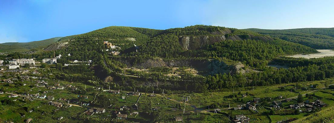 Вид на поселок Хинганск